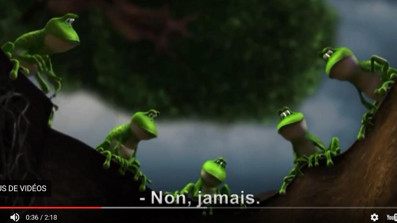 la grenouille qui saute
